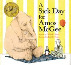 Cadecott: A Sick Day for Amos McGee Description: Amos, an elephant, goes and visits the zoo until one day he is sick so his friends come visit him. Activity: Take a field trip and go to the zoo.