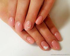 nude valentine's day nail design