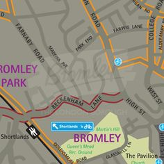 Bromley Cycle Map