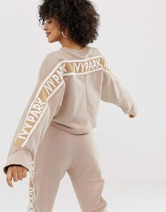 Buy Ivy Park Logo Sweat at ASOS. With free delivery and return options (Ts&Cs apply), online shopping has never been so easy. Get the latest trends with ASOS now. Sport Fashion, Fitness Fashion, Fashion Brand, Fashion Shoot, Women's Fashion, Sweat Shirt, Asos, Ivy Park Clothing, Ivy Park Beyonce
