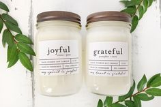 2 candle gift set. Perfect for teacher gifts or bridal showers. Hand poured soy wax candles. #fulcandles #ecofriendly