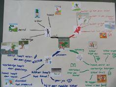 """project """"Kikker in de kou"""", mindmap"""
