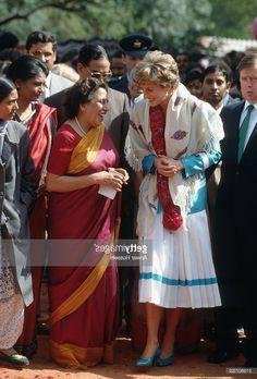 February 12, 1992: Princess Diana at the Tamana Special Needs Nursery School in Delhi, India.