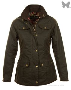 Barbour Ladies' Morris Utility Jacket - Olive / Strawberry Thief LWX0214OL71 | Country Attire