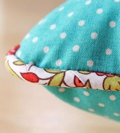 How to Sew Piping: Blue pillow with piping trim