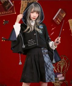 Pre-order Ravenclaw Inspired School Uniform - Cosplays, Makeup and Haitstyles - Women in Uniform Harry Potter Uniform, Hogwarts Uniform, Harry Potter Cosplay, Harry Potter Hogwarts, Hogwarts Outfit, Hogwarts Costume, Cool Outfits, Fashion Outfits, Kawaii Clothes