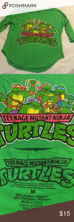 Teenage Mutant Ninja Turtles women 3/4 sleeve tee Teenage Mutant Ninja Turtles women 3/4 sleeve tees. Size medium. Tops Tees - Short Sleeve