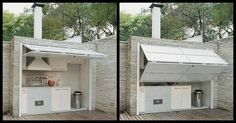 Backyard Kitchen Ideas Smart Outdoor Kitchen Ideas This Photo Gives Me An Idea For An Outdoor Laundry Outdoor Kitchen Design Pictures Outdoor Kitchen Countertops, Outdoor Kitchen Design, Diy Kitchen, Kitchen Ideas, Kitchen Designs, Kitchen Small, Kitchen Cart, Hidden Kitchen, Backyard Kitchen