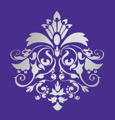 DESIGNER WALL DAMASK STENCIL PATTERN FAUX MURAL DECOR #1026 (Choose Custom Size)