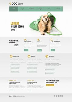 Dog Club Joomla Template Joomla Templates, Website Template, Lorem Ipsum, Your Pet, Web Design, Club, Pets, Layouts, Grief