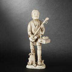 Ivory okimono. Japan, 19th Century