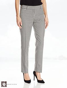 Anne Klein Women's Gingham Pant