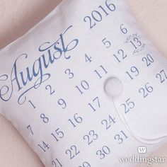 Personalized Ring Pillow