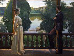 Nordic Summer's Evening, Richard Berg, 1899-1900. Oil on canvas.