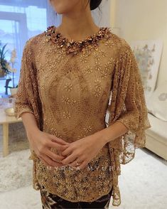No automatic alt text available. Kebaya Lace, Kebaya Brokat, Kebaya Dress, Batik Kebaya, Dress Pesta, Batik Dress, Vera Kebaya, Kebaya Muslim, Beanie Boos