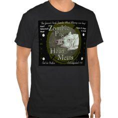 Zombie Pig Head Meats Tshirt #zombies http://www.zazzle.com/teeshirtsplenty?rf=238806092629186307