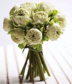 Lotus Blossom Bouquet. These flowers look similar to peonies!