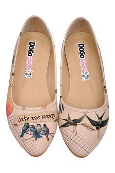 Vente Dogo / 17684 / Chaussures / Ballerines / Ballerines Ecru