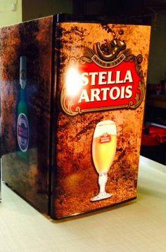 Canada's number one source for custom designed, custom printed vinyl mini fridge wraps and beer fridge decals! Beer Fridge, Mini Fridge, Man Cave Fridges, Custom Wraps, Stella Artois, Custom Design, Decals, Number, Printed