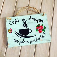 Coffee Gif, Country Paintings, Wood Creations, Country Decor, Wood Art, Wood Signs, Decoupage, Diy And Crafts, Sewing Patterns