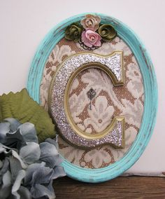 "Shabby Chic Bedroom For Girls Letter C Wooden Initial #upcycled Vintage Nursery by ""Sea Love And Salt"" On Etsy"
