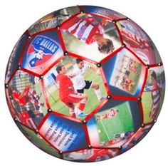 Our Photo Soccer Ball is the perfect personalized gift for a great soccer coach or your special soccer player.  Using all 32 panels of a regulation size #4 soccer ball we'll combine your team and individual photos, logos, players names and other text and create a unique one-of-a-kind gift.  We need to get our girls one of these - their senior night??!!!