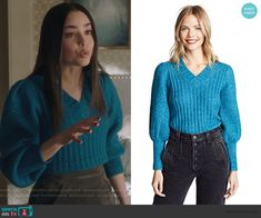 Lofty Sweater by Rebecca Taylor worn by Ava Jalali (Sofia Carson) on PLL The Perfectionists Sofia Carson, Fall Outfits, Cute Outfits, Fashion Outfits, Pretty Little Liars Outfits, Suede Mini Skirt, Tweed Coat, Other Outfits, Ribbed Sweater