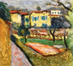 Landscape with Yellow House / Pierre Bonnard - circa 1918