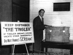 The Tingler (1959) Vincent Price. For the promotion of The Tingler,some theaters even had boxes in the lobby, where a live Tingler was being held. You were warned not to panic, but to SCREAM if it breaks loose!