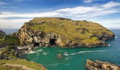 This is Tintagel Island in North Cornwall, steeped with history and legend. You can see the remains of Tintagel castle, the legendary birthplace of King Arthur perched on the edge of the cliff, with 'Merlins cave' below. Photo by Robert Slater