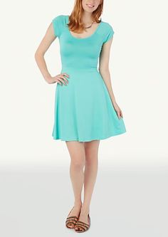 image of Criss Cross Back Skater Dress