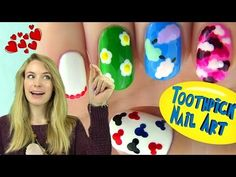 ▶ Toothpick Nails! 5 Nail Designs Using Only a Toothpick - YouTube