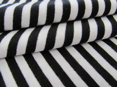 Jersey – Jersey ringlet black-white JS39 – a unique product by Borte_Band_Stoff on DaWanda