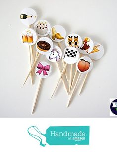 Emoji Cupcake Topper/Party Pick - Create Your Own Set! from Bluebird Party Supply