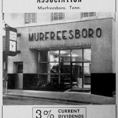 Murfreesboro, TN Savings and loan sign.