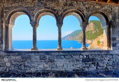 Arches of the church of St. Peter in Porto Venere
