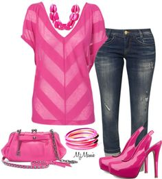 """Stripe 2"" by mzmamie on Polyvore"