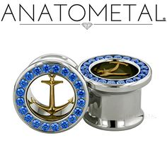 NEW Anchor Eyelets from Anatometal. Gem colors can be customized for you! Photo by Anatometal.