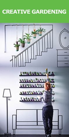 It's time to think outside the window box. Create mini gardens all over your home and in the most unexpected places – like hanging in the stairway. It's just a matter of seeing your space in a new light (and seeing the light in your space) and finding plants to match.