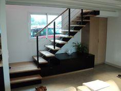 gamme île DERVENN - escalier en bois et métal #POTIER