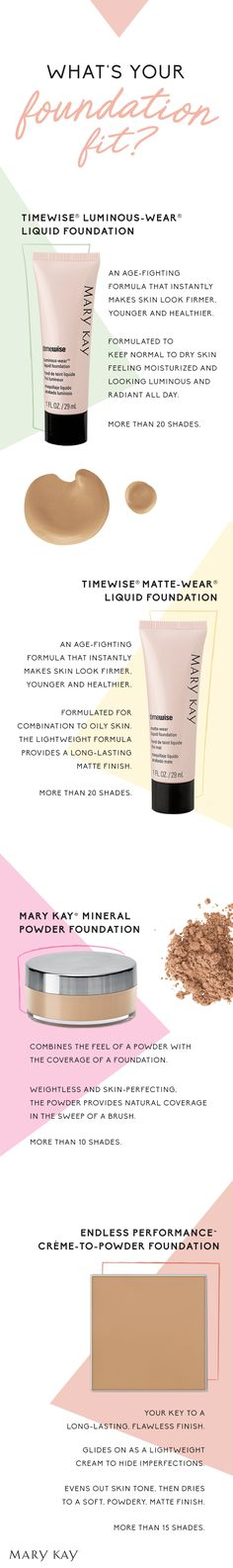 Switching up your makeup for summer? Our foundation finder has you covered. Click to discover the perfect formula for your skin type! | Mary Kay