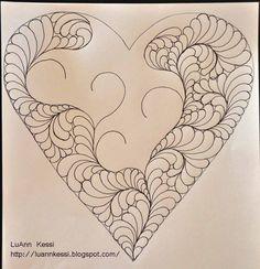 LuAnn Kessi Feathered Heart FMQ