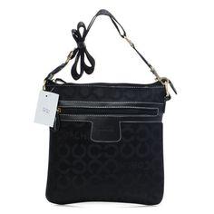 Coach Legacy Swingpack In Signature Medium Black Crossbody Bags AWR Give You The Best feeling!