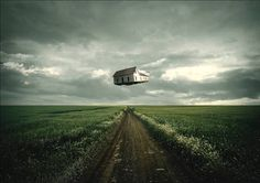How to create a surreal traveling house photo manipulation - Tutorial