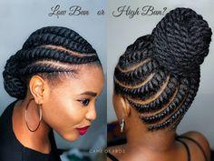 Material: Havana Twist Crochet Hair Braids made with high quality Kanekalon synthetic fiber. Cornrows Natural Hair, Braided Cornrow Hairstyles, Black Hair Updo Hairstyles, Flat Twist Hairstyles, Natural Hair Twists, African Braids Hairstyles, Natural Hair Styles, Braided Updo, Prom Hairstyles
