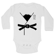 """Cute Baby Boy Onesie """" Hairy Karate Master """" - Funny Kids Clothing - Bodysuits and Rompers - Gift for Baby - Sleeve Option - 321 by LittleRoyalteeShirts on Etsy"""