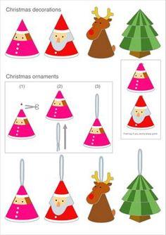 Des découpages et personnages de Noël faciles à réaliser