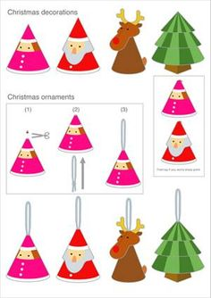 1000 images about deco noel on pinterest noel - Faire des decoration de noel en papier ...