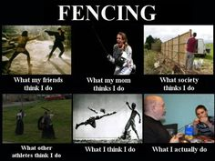 Fencing <3 Those nubbies are the hardest to get on the tips of the swords
