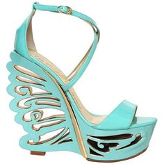 Le Silla Patent Scuplted Butterfly Platform Wedges